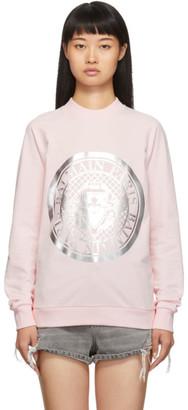 Balmain Pink Coin Sweatshirt