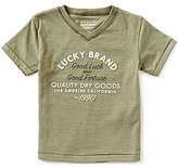 Lucky Brand Little Boys 2T-7 Good Fortune Short-Sleeve V-Neck Graphic Tee