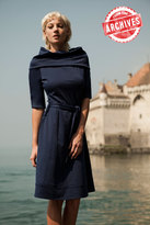 Shabby Apple Bampton Dress Navy Blue