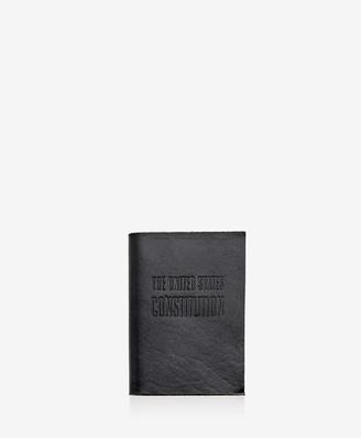 GiGi New York Mini United States Constitution, Black Vachetta Leather