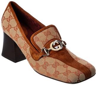 Gucci Zumi Gg Supreme Canvas & Suede Loafer