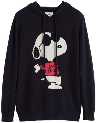 Parker Chinti & Navy Snoopy Be Cool Cashmere Hoodie