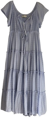 Innika Choo Blue Cotton Dress for Women