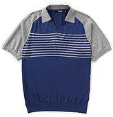 Murano Barcelona Collection Johnny Collar Sweater Knit Shirt
