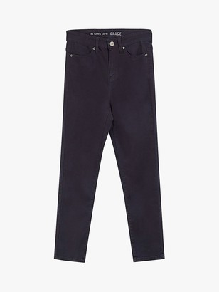 Oasis Grace Slim Fit Jeans, Navy