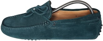 Tod's Gommino Green Suede Flats