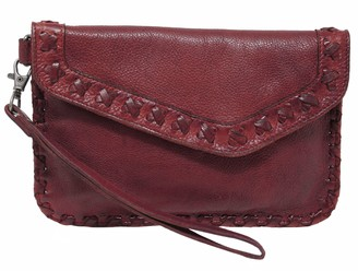 Latico Leathers Detailed-Flap Leather Wristlet - Marlin
