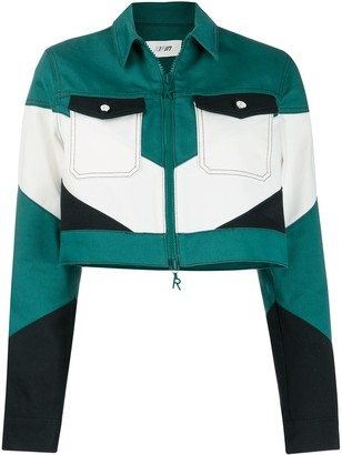 Kirin Colour-Block Cropped Jacket