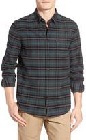 Ben Sherman Brushed Prince of Wales Long Sleeve Regular Fit Shirt