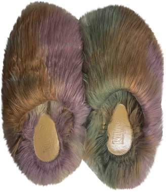 Maison Margiela Multicolour Faux fur Mules & Clogs
