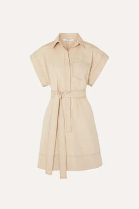 Givenchy Belted Cotton-poplin Mini Dress - Beige