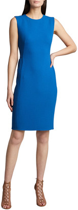 Akris Sleeveless Wool Crepe Sheath Dress