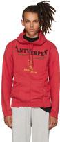 Vetements Red Antwerp Fitted Cut Up Hoodie