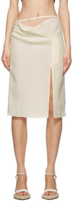 Jacquemus Beige La Jupe Drap Skirt