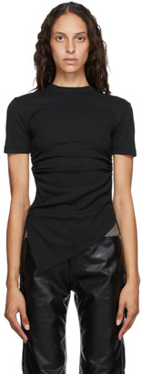 ANDERSSON BELL Black Asymmetric Cindy T-Shirt