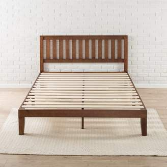 "Zinus Vivek 12"" Solid Wood Platform Bed with Headboard, Antique Espresso, Multiple Sizes"
