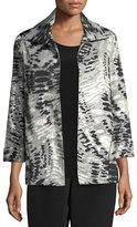 Abstract Animal-Print Jacket, Plus Size