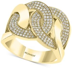 Effy Diamond Interlocking Chain Link Statement Ring (1/2 ct. t.w.) in 14k Gold