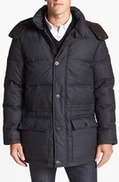 Vince Camuto Men's 680-Down Fill Quilted Hooded Parka