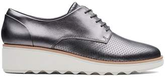 Clarks Collection By Women's Sharon Crystal Wedge Leather Oxfords
