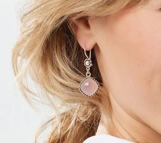 Artisan Crafted Quartz Gemstone Drop Earrings Sterling Silver