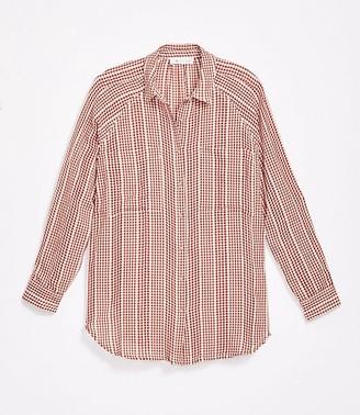 LOFT Lou & Grey Gingham Pocket Tunic Shirt