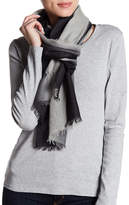 Amicale Lightweight Cashmere Dip Dye Scarf