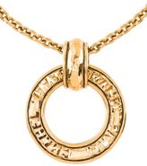Chanel Signature Cutout Circle Pendant Necklace
