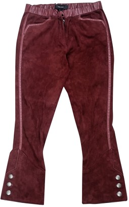Isabel Marant Burgundy Leather Trousers