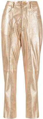Forte Forte Metallic-Tone Cropped Leather Trousers