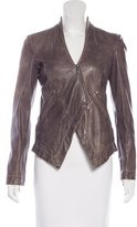 Emporio Armani Distressed Leather Jacket