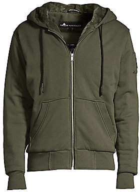 Moose Knuckles Men's His Fashion Bunny Faux Fur-Lined Zip Hoodie
