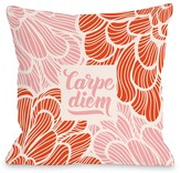 Carpe Diem Floral Multi Decorative Pillow by OBC