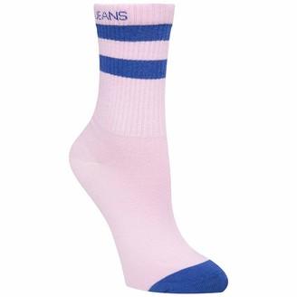 Calvin Klein Women's Short Crew 1p Jeans Logo Stripe Hudson Socks