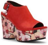 Donald J Pliner Women's ROSIE - Nubuck Leather Platform Wedge Sandal