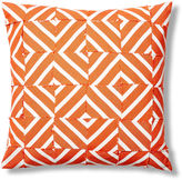 Dransfield and Ross Cabana 24x24 Outdoor Pillow, Orange