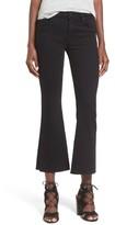 Hudson Women's 'Mia' Raw Hem Crop Flare Jeans