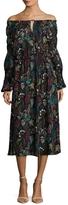 T Tahari Women's Marisole Printed Midi Dress
