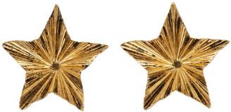 Saint Laurent Gold Single Star Earrings