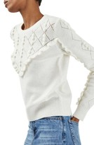Topshop Women's Ruffle Bobble Sweater