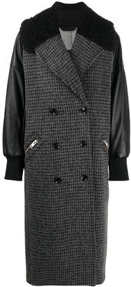 Diesel Double-Breasted Panelled Coat