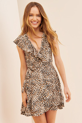 Free People French Quarter Wrap Mini Dress