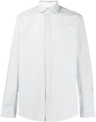 Hackett microprint 'H' regular shirt
