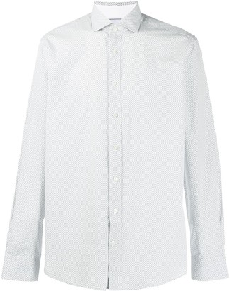 Hackett microprint 'H' regular shirt