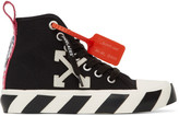 Off-White Off White Black and White Arrows Mid-Top Sneakers