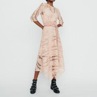 Maje Long Dress in Guipure