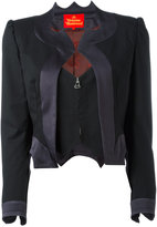 Vivienne Westwood layered zip cropped jacket - women - Polyester/Spandex/Elastane/Acetate/Virgin Wool - 40