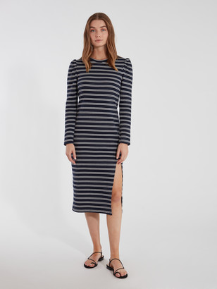 Heartloom Briana Front Slit Midi Dress