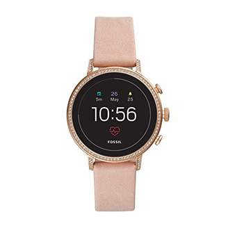 Fossil Women's Gen 4 Venture HR Heart Rate Stainless Steel and Leather Touchscreen Smartwatch