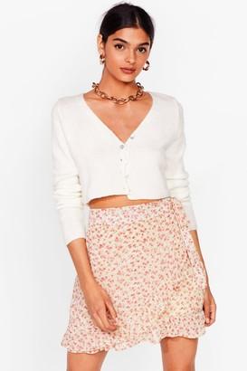 Nasty Gal Womens mini ditsy ruffle wrap skirt - Sage